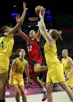 Images from the United States' victory over Australia. The Americans outscored the Aussies, 43-26, in the second half and advance to their fifth straight gold medal game.