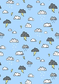 So I see that I am not the only rain-  thunder- cloud- obsessed person!   cute wallpaper!