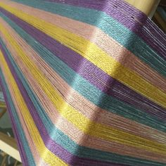 "Ready for an Easter treat? This weaving kit comes with pre-wound warp and weft, ready for the loom the day it arrives.  Great for use on a rigid heddle, table or floor loom with 18"" weaving width.  Finished fabric can be towels, table runner or placemats."