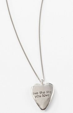 Pure Jill live the life you love necklace at J.Jill