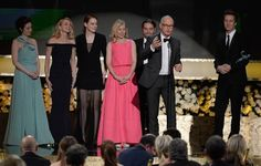 Birdman took home the final honor at the 2015 Screen Actors Guild Award for Outstanding Performance by a Cast in a Motion Picture. | Emma Stone Accidentally Tripped Naomi Watts On Stage At The SAG Awards