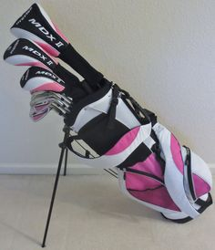 Golf Clubs - Ladies Complete Golf Club Set for Petite Women 5055 Tall Driver Fairway Wood Hybrid Irons Putter Stand Bag Ladies Golf Clubs, Best Golf Clubs, Ladies Club, Pink Ladies, Dubai Golf, Golf Putting Tips, Golf Club Sets, Golf Tips For Beginners, Womens Golf Shoes