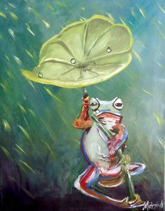 Buy Leaf Frog, Acrylic painting by Morphd MoHawk on Artfinder. Original Artwork, Original Paintings, Acrylic Painting Canvas, Online Art, Amazing Art, Sculptures, Illustration Art, Art Prints, Wall Art