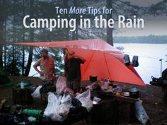 If you are headed out into the wild and run into a real gully washing, frog-strangling rainstorm here's ten more tips for camping in the rain that should help you get through the storm in style