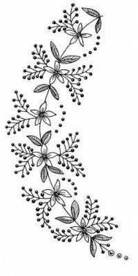 Grand Sewing Embroidery Designs At Home Ideas. Beauteous Finished Sewing Embroidery Designs At Home Ideas. Floral Embroidery Patterns, Hand Embroidery Stitches, Crewel Embroidery, Hand Embroidery Designs, Ribbon Embroidery, Embroidered Flowers, Flower Patterns, Motifs Perler, Machine Embroidery Projects
