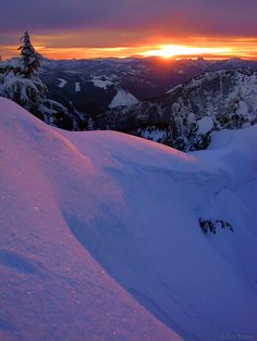 Sunset from Cowboy Mountain, Stevens Pass, WA by Jack Brayer
