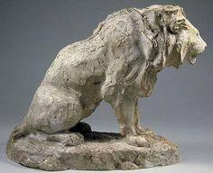 BARYE Antoine Louis Lion assis 2e quart 19e siècle Paris ; musée du Louvre département des Sculptures