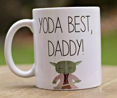 Yoda best dad mug Stocking stuffer Christmas by ShopFourArrows