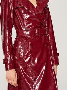 Trencz z połyskującej tkaniny, outerwear_1, fioletowy, RESERVED