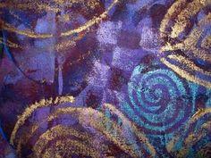 Using Shiva Artist's Oil Color Paintstiks by Virginia A. Spiegel. Fiber Art, Art Quilt, Mixed-Media