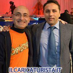 ilCaricaturista.it con il giornalista di Rafio Marte e Sport Mediaset Gianluca Gifuni
