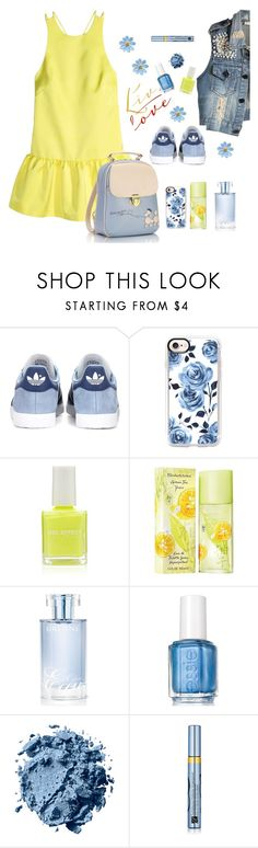 """""""spring"""" by tato-eleni ❤ liked on Polyvore featuring adidas Originals, Casetify, Forever 21, Elizabeth Arden, Orlane, Essie and Estée Lauder"""