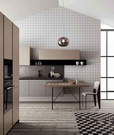 A tribute to 60's and 70's #doimocucine #italy #kitchen #design #modernkitchen #sixtiesstyle #seventiesstyle #geometricprint #minimal #instadecor #cookinstyle