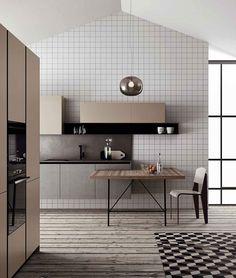 Gothic Home Decor Trend Alert: Xadrez (Foto: Divulgao/Reproduo).Gothic Home Decor Trend Alert: Xadrez (Foto: Divulgao/Reproduo) Interior Design Kitchen, Modern Interior, Interior Architecture, Interior Decorating, 60s Kitchen, Kitchen Living, Kitchen Decor, Kitchen Pantry, Cocinas Kitchen
