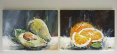 Still Life, Etsy Shop, Vintage, Painting, Fruit, Sketches, Abstract, Painting Art, Paintings