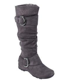 Gray Jester Wide-Calf Boot - Women by Journee Collection #zulily #zulilyfinds