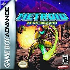 Metroid: Zero Mission (Nintendo), GBA; 6th installment of the Metroid series & an enhanced remake of the original Metroid game designed to retell the game's story. Samus Aran travels to Zebes after learning that Space Pirates are experimenting with Metroids in an attempt to duplicate them & use them for their own gain. Zero Mission uses a rebuilt version of the game engine used for Metroid Fusion so that it did not need to be built from scratch.