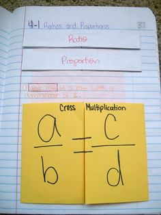 Cross Multiplication for Ratios and Proportions! Another Flippable for Proportions!