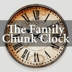 We all know what it feels like to create a new family schedule. We make it beautiful, color code it and introduce it with fanfare to our families. And then in two weeks we have quit using it. There is a sense of failure and this happens over and over. Wouldn't it be great if there was a system of time management that worked in busy families? Well, there is and it is called the Family Chunk Clock. Homeschool Graduation Ideas, Homeschool High School, Speech And Debate, Family Schedule, Field Trips, Scouting, Time Management, Geology, Social Studies