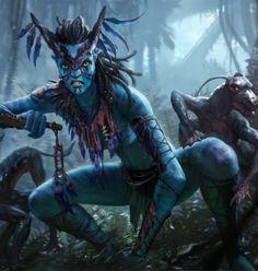 Meet Swin'ara, the Viperwolf Warrior from 🐍🐺🌌🌑✨🌿🌱🍃🌴 Avatar Movie, Avatar Characters, Alien Avatar, Alien Character, Character Art, Character Design, Aliens, Avatar James Cameron, Avatar Fan Art