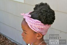 Using Scarves for Smoothing Natural Hair | Chocolate Hair / Vanilla Care #naturalhair