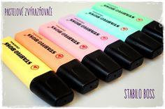 Krásné pastelové zvýrazňovače Stabilo Boss jsou perfektní pro deníky, diáře či alba. Stabilo Boss, Art Supplies, Usb Flash Drive, Pastel, School, Google, Hipster Stuff, Cake, Crayon Art