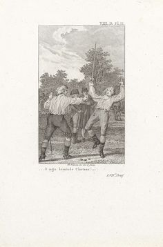Tweegevecht aan de bosrand, Reinier Vinkeles, 1805