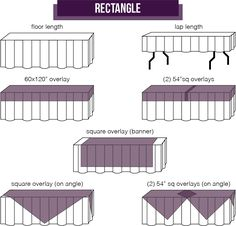 Mosaic Sizing Determine Drop Image2 Tablecloth Size Chart Cloth Decorations Buffet