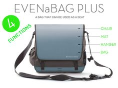 EVENaBAG: A multifunctional messenger bag that can be used as a seat, mat, hanger as well as a sleek & stylish bag