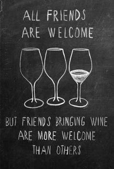 all #friends are #welcome #wine #glasses #drawing  # poster quadretto effetto…
