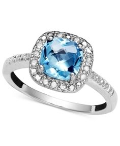 Fine Jewelry 1/10 CT. T.W. Diamond and Genuine Topaz Sterling Silver Ring xdsJCm8gZS
