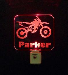 Personalized Custom #Motorbike LED Night Light, #Motorcycle #PersonalizedGift - Unique LED Products #cleveland