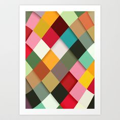 Colorful Art Print by Danny Ivan - $18.00