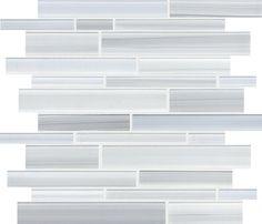 Tribeca Glacier Random Strip Mosaic tile #Profiletile