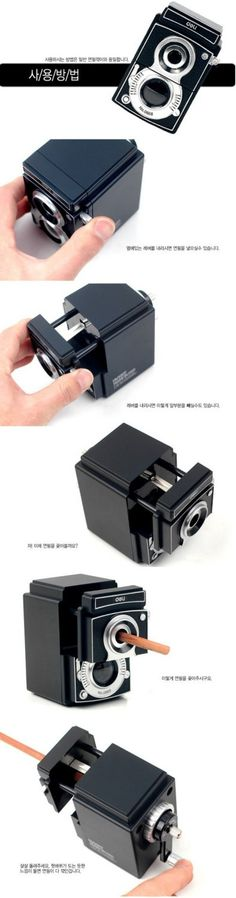 Classic Camera Style Pencil Sharpener $24.99 i want this for my creative space!