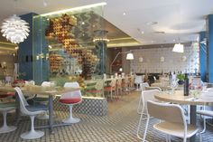 A look at our beautiful restaurant design in Birmingham, inspired by modern Italian design!