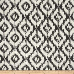 Eroica Tribal Jacquard Charcoal from @fabricdotcom  Refresh and modernize any piece of furniture with this heavyweight jacquard fabric, perfect for window treatments, accent pillows, upholstering furniture, headboards and ottomans. Colors include off white and charcoal.