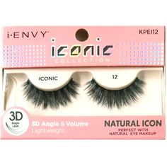ff7e8252afc Kiss i-ENVY iconic Collection Natural Icon 3D Angle Eyelashes 1 Pair Pack -  iconic 12 #KPEI12
