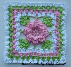 Instant Download Crochet PDF pattern - Flower in granny square. £1.00, via Etsy.