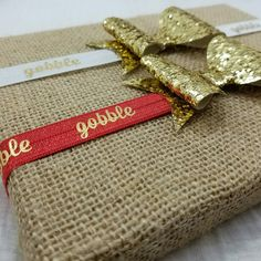 Chose your favorite Thanksgiving headband, both have big gold bows!