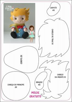 Security Check Required - Her Crochet Felt Doll Patterns, Felt Animal Patterns, Stuffed Animal Patterns, Felt Crafts, Diy And Crafts, Kids Crafts, Felt Baby, The Little Prince, Sewing Dolls