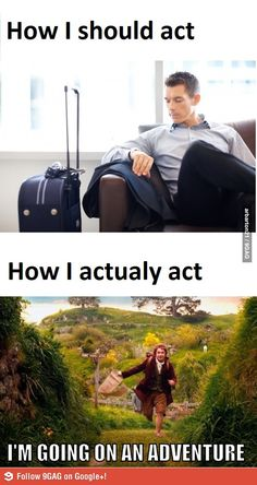 Yep, definitely feel that way when I travel