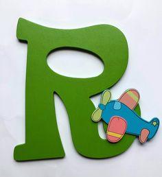 WHIMSICAL WOODEN LETTER; Small Wooden Letter; Children's Room Decor; Nursery Decor; Nursery Letters by SteffiChelles on Etsy