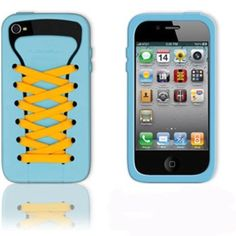 So adorable! You can even change the laces! Case for iPhone 4/4s