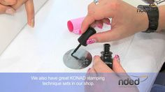 http://www.nded.com - In this nail art video tutorial you will see how to create a very simple and yet sensational nail design with stamping technique and gel polish. Any beginner can recreate this design very easily. The presented KONAD stamping products are easy to use and can be combined very well with our nded gel polish. Of course, any professional nail designer can create a great nail art design with these products as well.