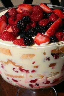 Lemon Curd Berry Trifle! (Substitute GF vanilla or GF lemon cake for the Lemon pound cake) Prep Time: 1 hour, 15 minutes Cook Time: 20 minutes Total Time: 1 hour, 35 minutes Ingredients: 6 large egg yolks, 1 cup sugar, 4 lemons, zested and juiced *If you don't want it as tart (it's not ridiculously tart to begin with, but it is tart) don't use as much zest. Maybe 2 or 3 lemons, 1/2 cup (1 stick) unsalted butter, cut in chunks, 1 pint fresh strawberries, stemmed and halved lengthwise, 1 pint…