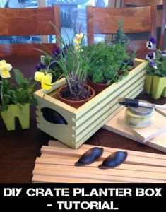 DIY Planter Box Crate-Tutorial - soo easy and super cute!!  I want one for my windowsill :)    abuloushomeideas.com