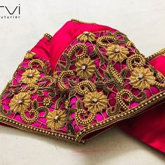 Embroidery for classy lovers Cutwork Blouse Designs, Fancy Blouse Designs, Bridal Blouse Designs, Cut Work Blouse, Hand Work Blouse Design, Embroidery Motifs, Hand Embroidery Designs, Maggam Work Designs, Farm Wedding
