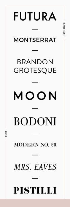 Favorite fonts for branding by Reux Design Co. - a great combination of serif and sans serif Graphisches Design, Design Logo, Fashion Logo Design, Graphic Design Typography, Modern Typography, Fashion Fonts, Fashion Typography, Typo Design, Sport Design