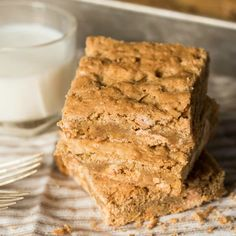 Easy Butterscotch Bars are loaded with brown sugar and butterscotch chips for a soft, chewy cookie bar that your kids will love!